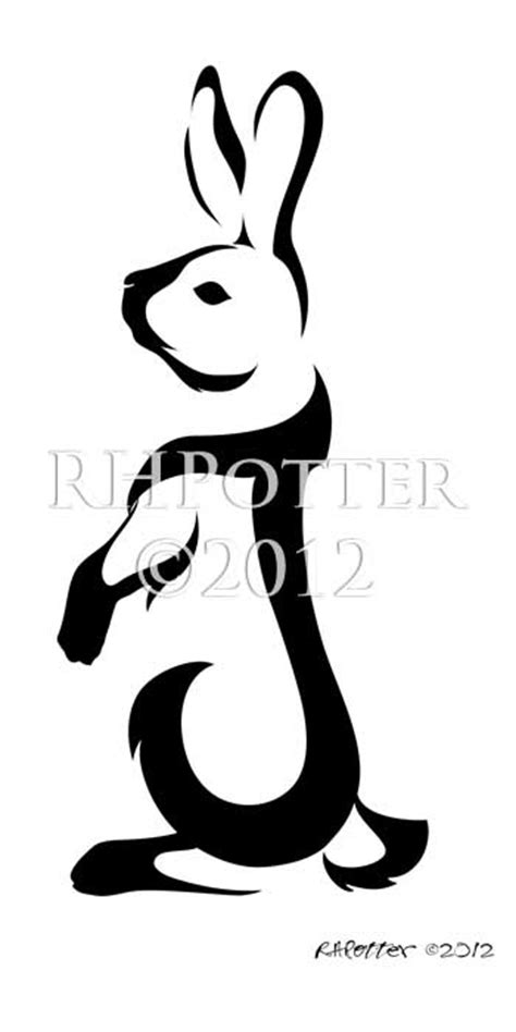 j letter tattoo design standing rabbit