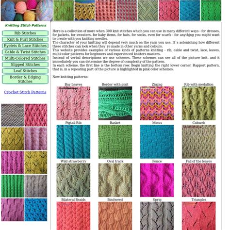 pattern of library different knitting patterns name this stitch baiaomq com