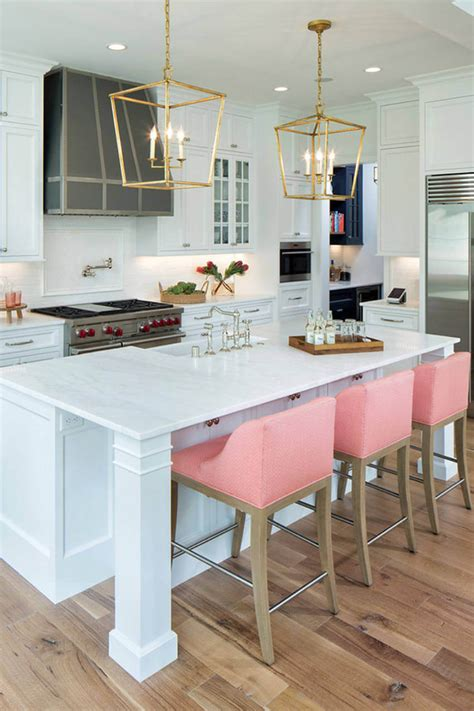 Pink Kitchen Stools by 10 Moments Pink Got The Front Row In Decor Homeyou