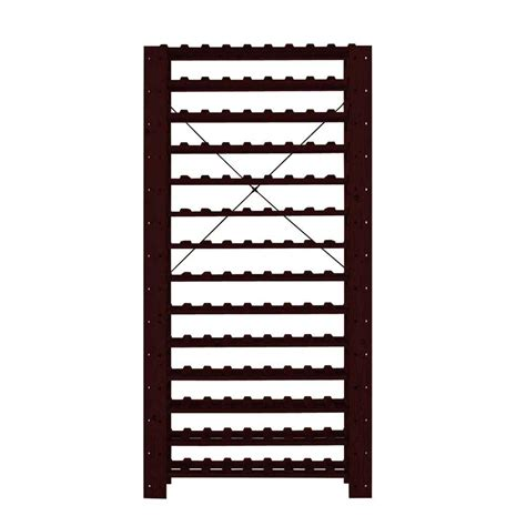 wine enthusiast swedish 126 bottle wine rack 642 16 04