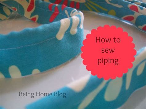 how to sew piping for upholstery how to sew piping in 6 easy steps being home