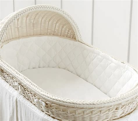 white cotton bassinet fitted sheet pottery barn