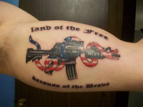 nra tattoos assault rifle nra my ideas and designs
