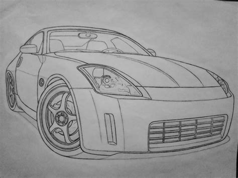 nissan 350z drawing nissan 350z pencil by jordanp23 on deviantart