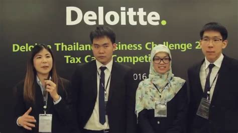 Deloitte Mba Competition 2016 by 2016 Deloitte Thailand Business Challenge Tax