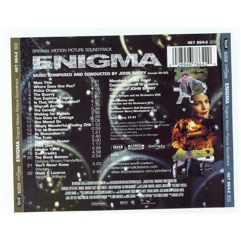 enigma film john barry john barry enigma mp3 buy full tracklist