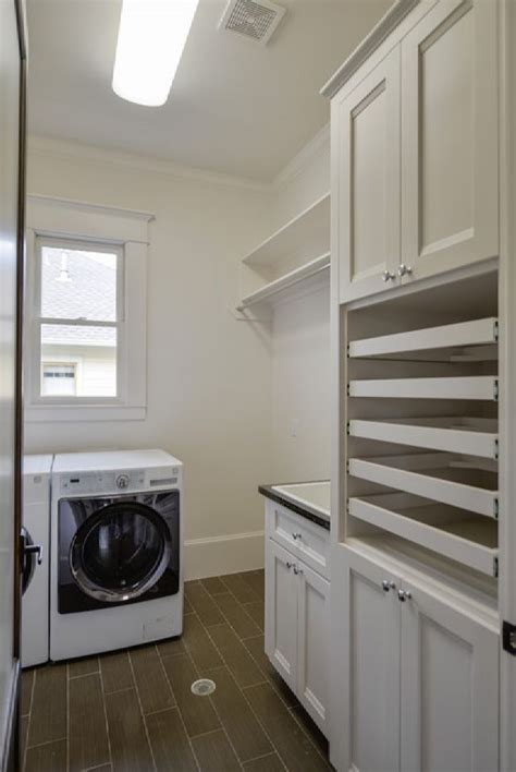 comfortable traditional laundry room  sweater drying