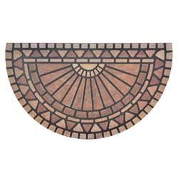 Rubber And Coir Doormat Flocked Rubber Half Moon Modern Design Doormat Floor 75cm