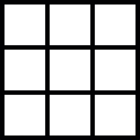 square to square square grid icons free