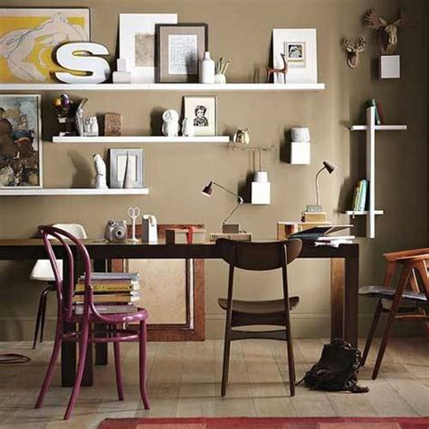 decorate office shelves with a large wall shelves decorating ideas