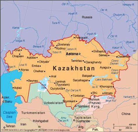 map world kazakhstan the center for volga german studies at concordia