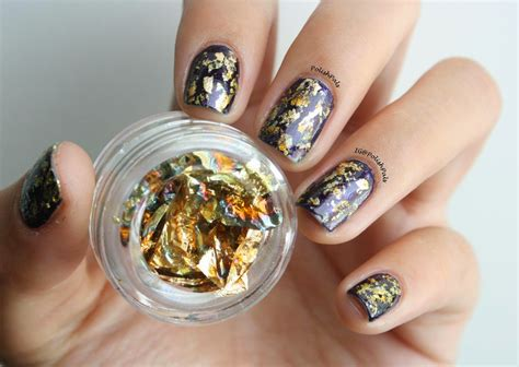 foil nail pals gold foil nails
