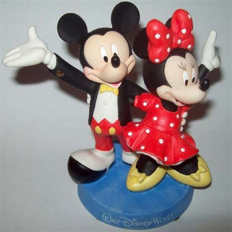 disney cake topper porcelain figure mickey minnie mouse celebrate