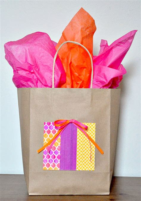 gift bag decorating ideas and economic kraft gift bag idea the nerds