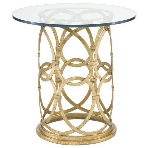 metal end table antonia hollywood regency round gold metal side end table