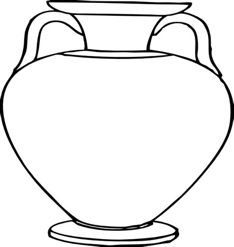 Vase Outline by Large Vase Clip At Clker Vector Clip