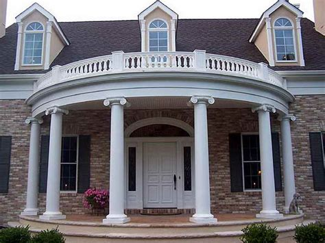 Planning Ideas Great Round Portico Designs Picking The House Plans With Rounded Porch