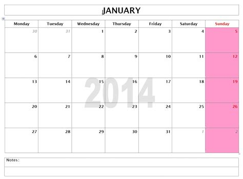 Calendar 2014 Template Word   madinbelgrade