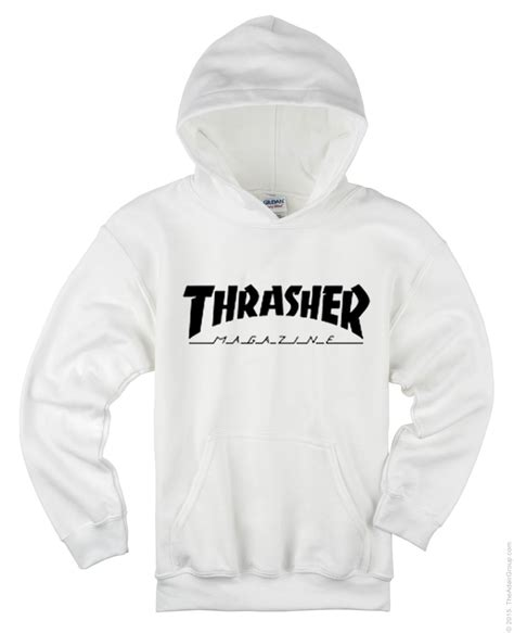 Thrasher White thrasher magazine white hoodie