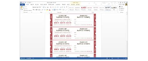 How To Create Tickets In Microsoft Word Tutorial Free Premium Templates Ticket Template Microsoft Word