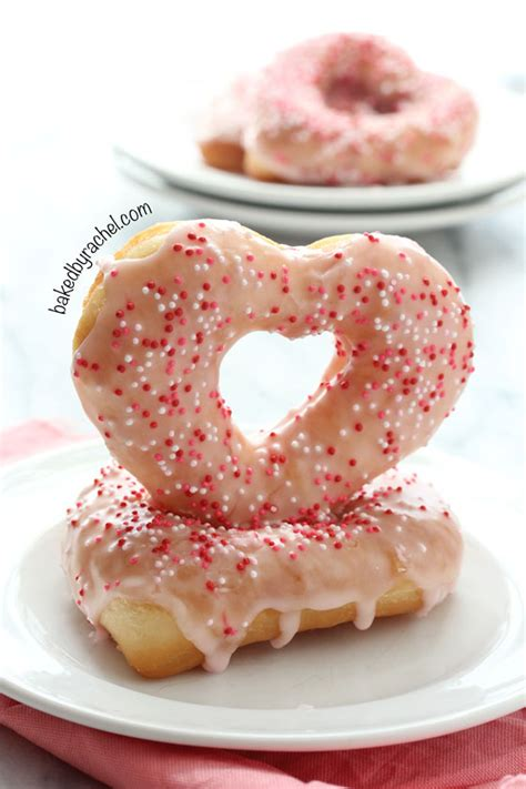 valentines donuts strawberry glazed donuts baked by