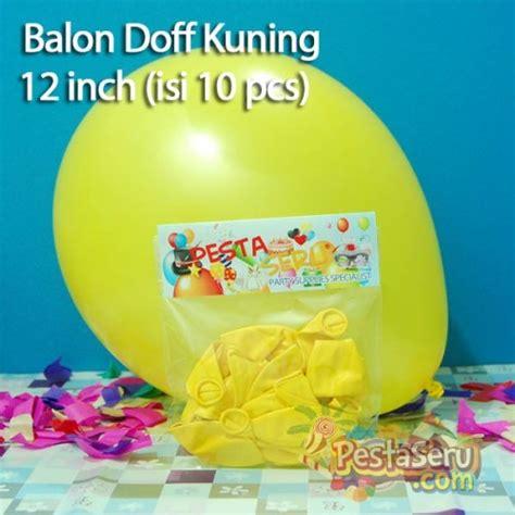 balon doff kuning 12 inch isi 10 pcs pestaseru