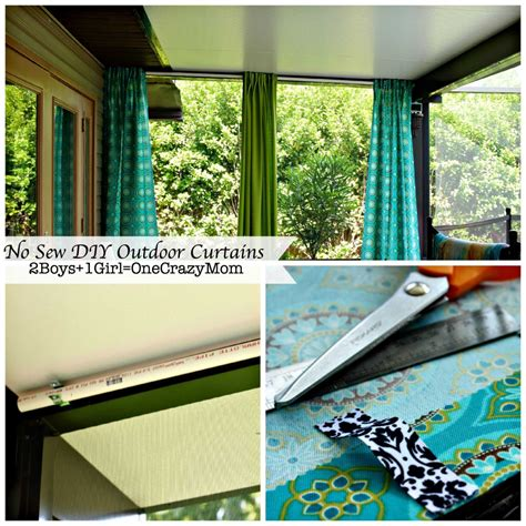 make your own curtains no sew make your no sew diy outdoor curtains on a budget 2
