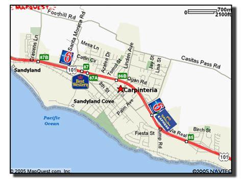 carpinteria california map maps hotels