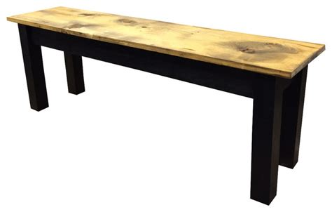 barnwood and black bench country indoor benches by