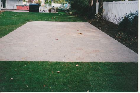 Patio With Concrete Pavers Concrete Patio Home Design Scrappy