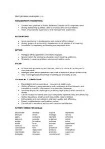 Skills In Resume Sle by Writing Skills On Resume Resume Format Pdf