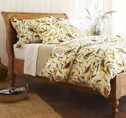 pottery barn coverlet bird motif bedding spring decorating idea from pottery barn