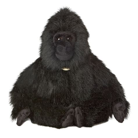 realistic stuffed gorilla 17 inch sitting plush animal by