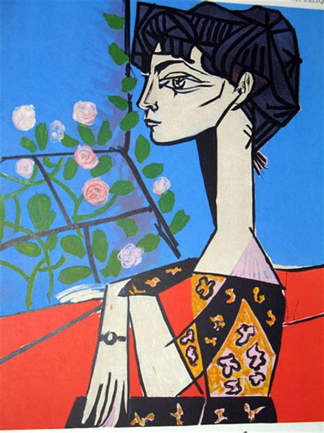 picasso paintings of jacqueline pablo picasso jacqueline with flowers ebay