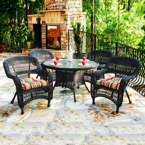 5 patio dining sets shop tortuga outdoor portside 5 roast glass