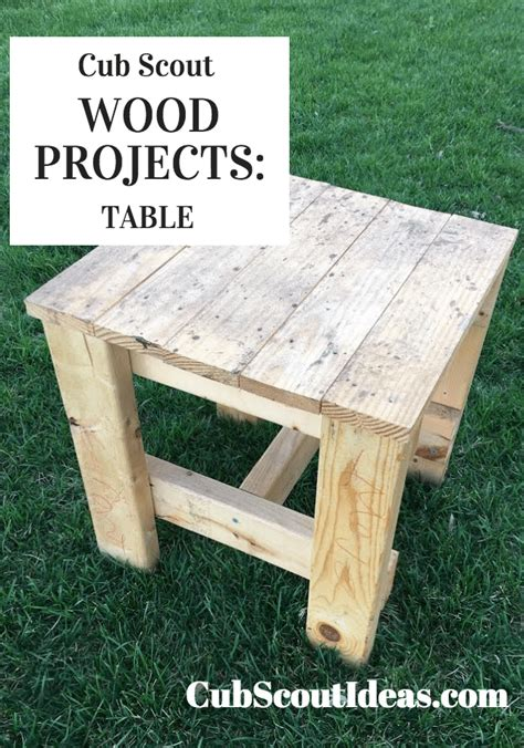 scout woodworking projects cub scout wood projects build a table cub scout ideas