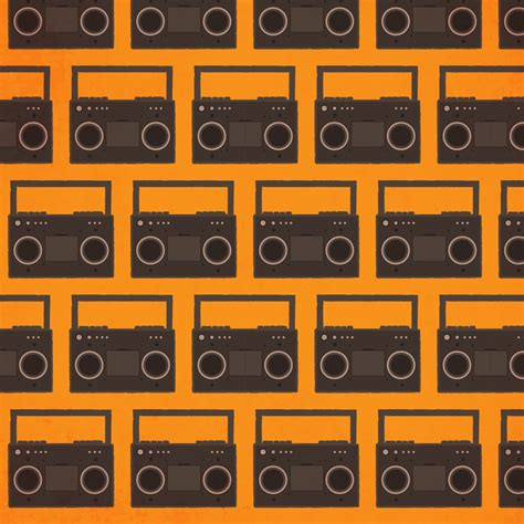 pattern photoshop music music pattern with radio photoshop vectors brushlovers com