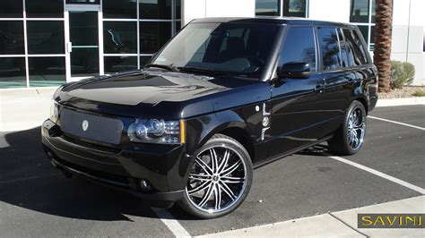 chrome land rover range rover savini wheels
