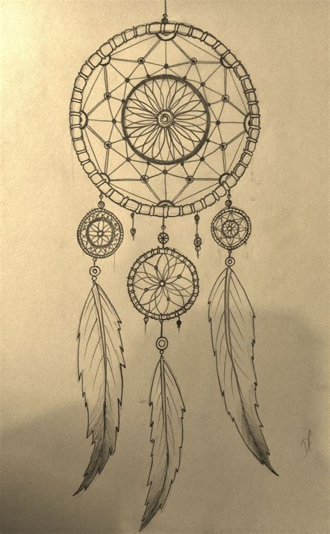 how to draw a tattoo design on paper pretty dreamcatchers drawing how to draw a dreamcatcher