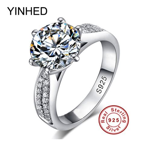 Ring Seher Zr Size Standar classic solid sterling silver ring 2 carat cubic zircon ring https www escadaone