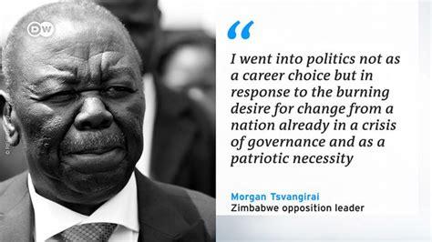 tsvangirai quotes opposition leader tsvangirai dies news