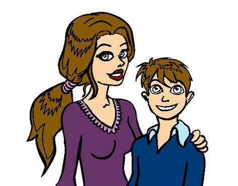 imagenes de mama con sus hijos en caricatura mama con su hijo en caricatura imagui