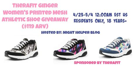 Therafit Giveaway - therafit ginger women s printed mesh athletic shoe