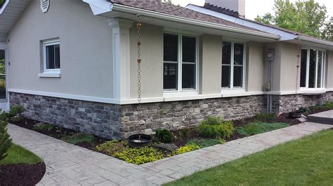 Home Exterior Design With Stone by Halton Hills Ontario Exterior Restoration Stone And