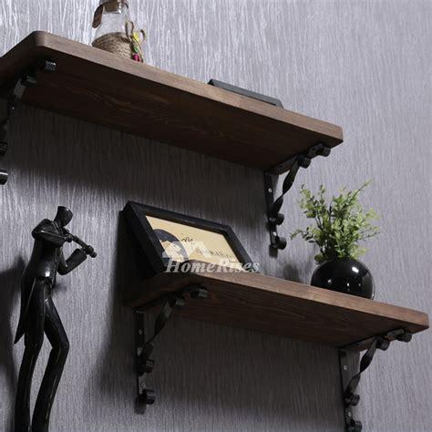 contemporary wall shelves wooden ledges decorative rustic