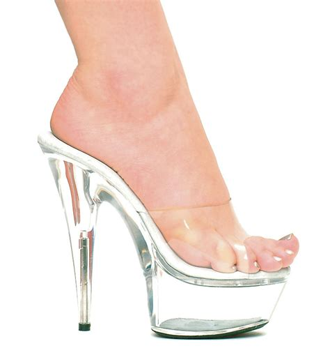 6 quot spiky stiletto heel clear platform shoes
