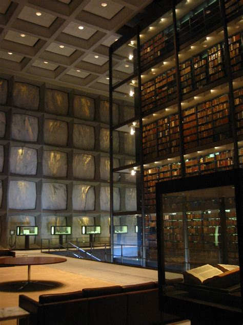 Library Interior by Beinecke Book And Manuscript Library New