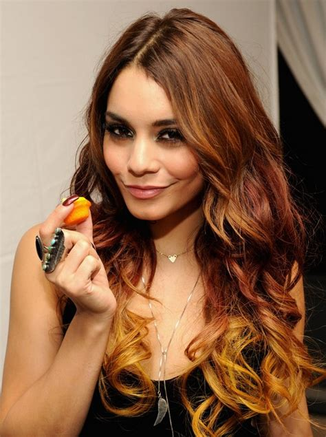 long wavy brown ombre hairstyle for women 2014 pretty vanessa hudgens long hairstyles 2014 ombre curly