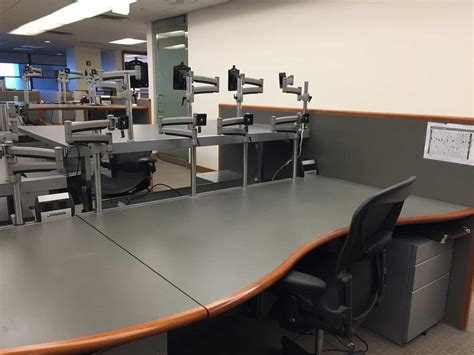 Trader Desks by Used Sit Stand Desks By Soros Saraval Industries