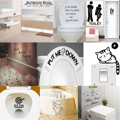funny bathroom stickers funny toilet bathroom diy vinyl removable wall sticker